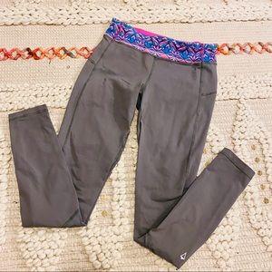 Ivivva Girls Lululemon Grey Pink Blue Legging